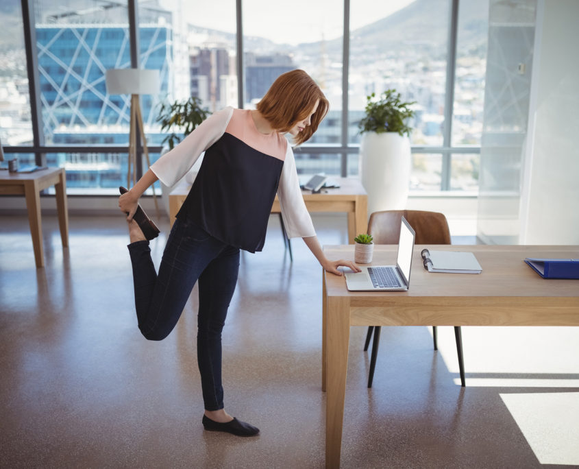 Stretching at Desk